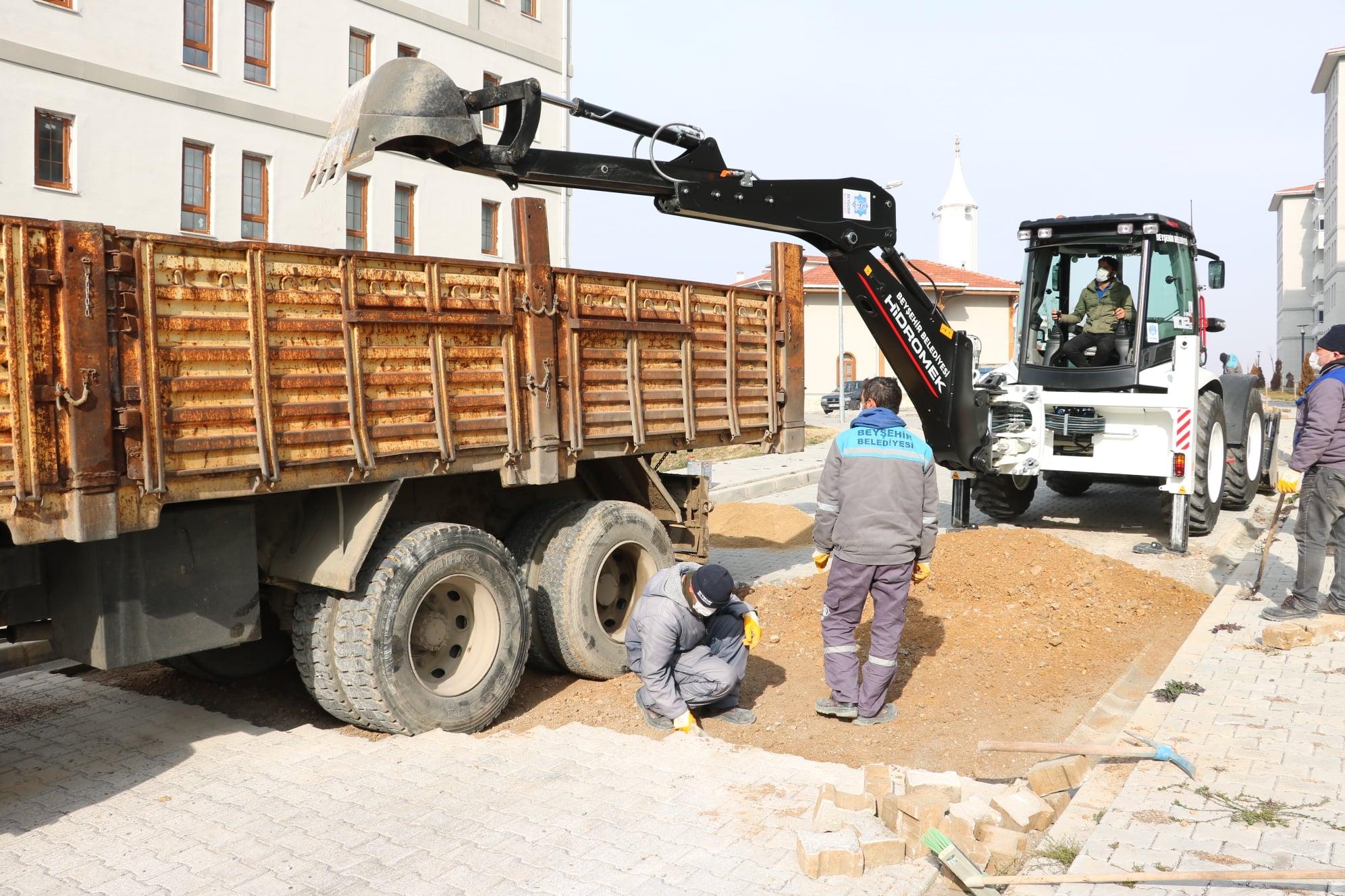 Beyşehir Belediyesi TOKİ Mahallesindeki Çalışmalarını Sürdürüyor