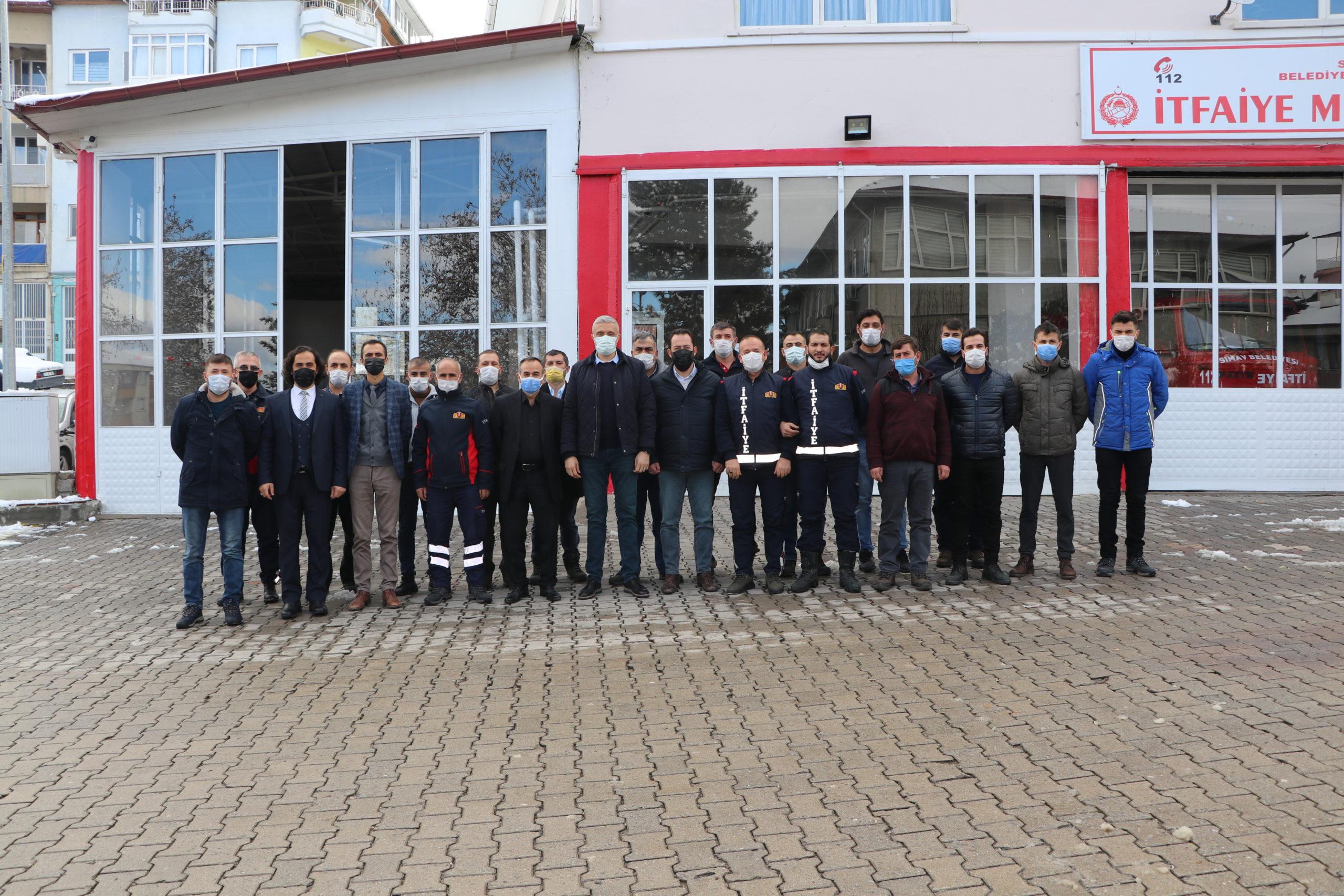 Simav Belediyesi İtfaiye Çalışanları İtfaiyecilik Temel Eğitim Sertifikalarını Aldılar