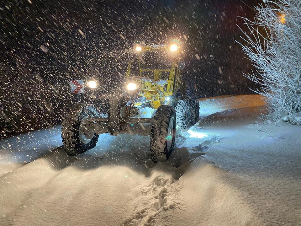 Bursa Yenişehir'de Karla Mücadele Başarılı Geçti
