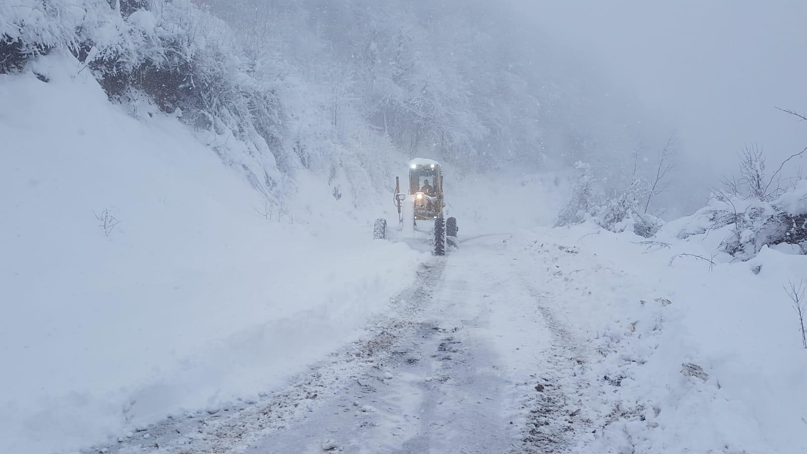 Terme'de Karla Mücadele Aralıksız Sürüyor