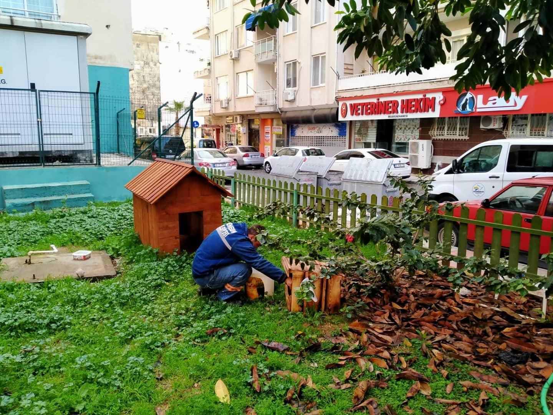 İskenderun'da Sokak Hayvanlarına Hem Barınma, Hem Koruma Hizmeti