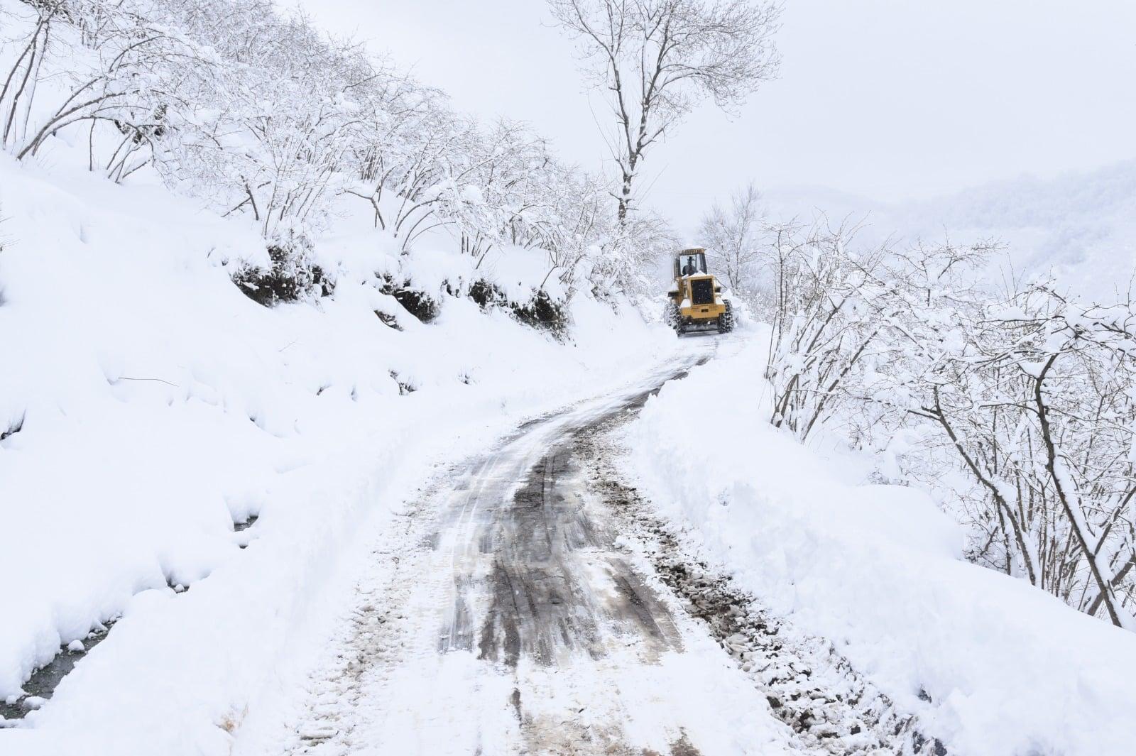 Görele'de Kar Nedeniyle Ulaşımın Aksamasına İzin Verilmedi