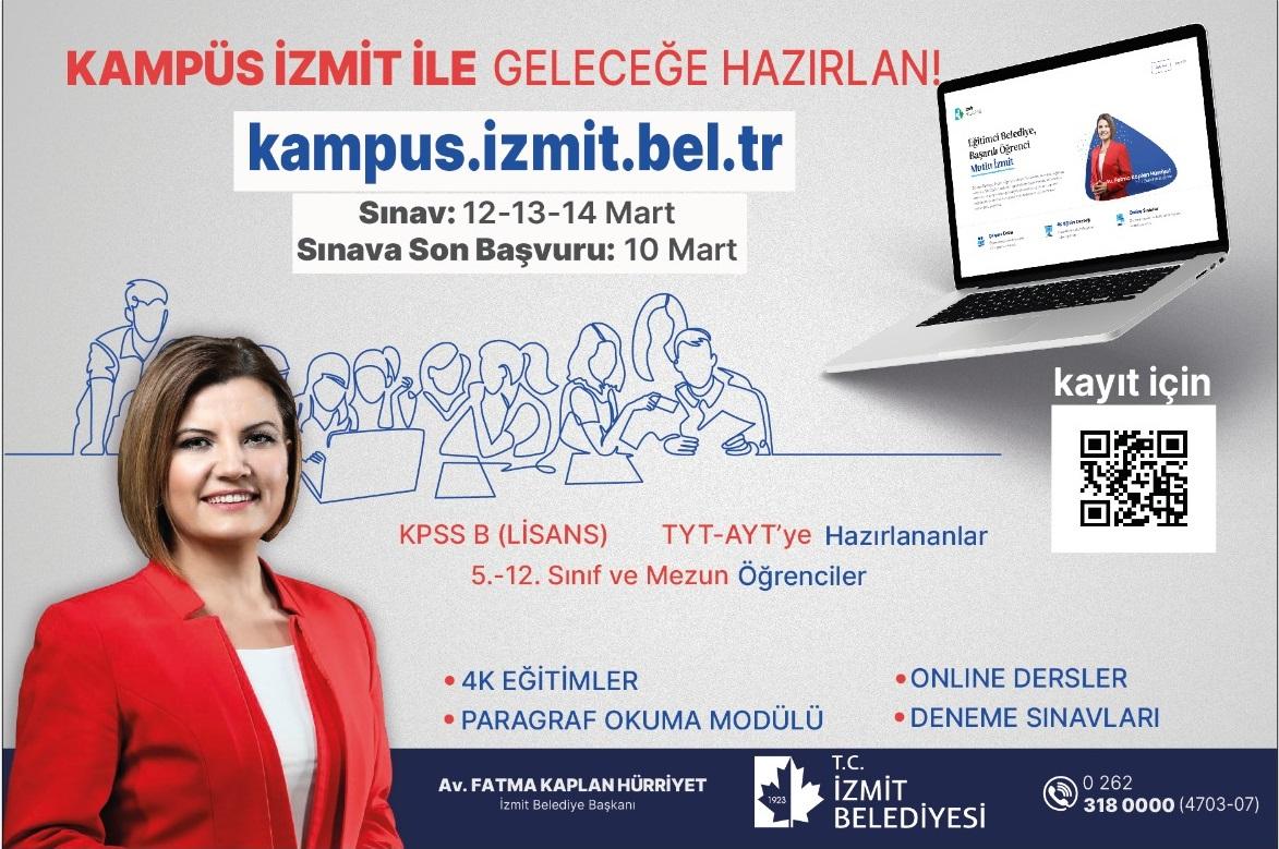 İzmit Belediyesinden Öğrencilere Sınav Hazırlık Desteği