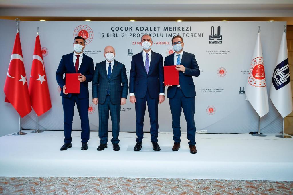 Erzurum 'Çocuk Adalet Merkezi' İçin Protokol İmzalandı