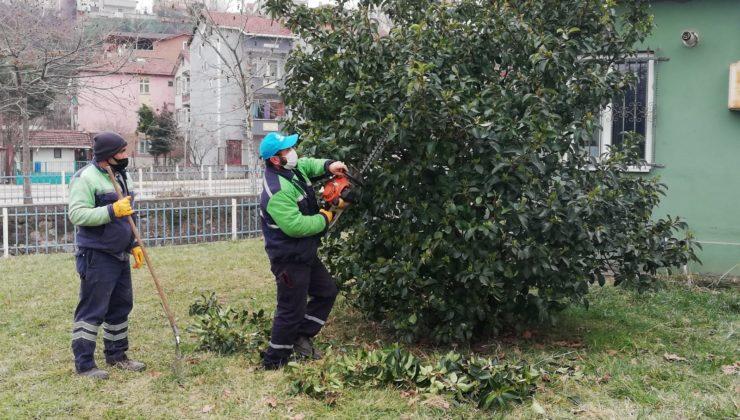 Derince'de Yeşil Alan Düzenleme Çalışmaları Hızla Devam Ediyor