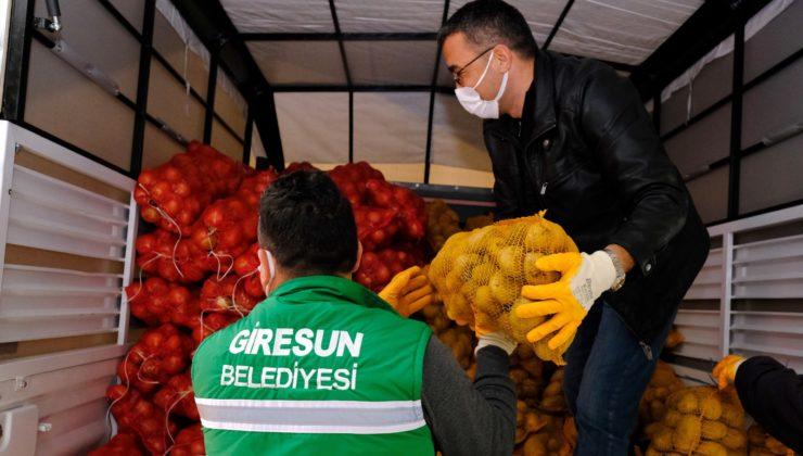 Giresun'dan Ekonomik Sıkıntılar Yaşayan Vatandaşlara Gıda Yardımı