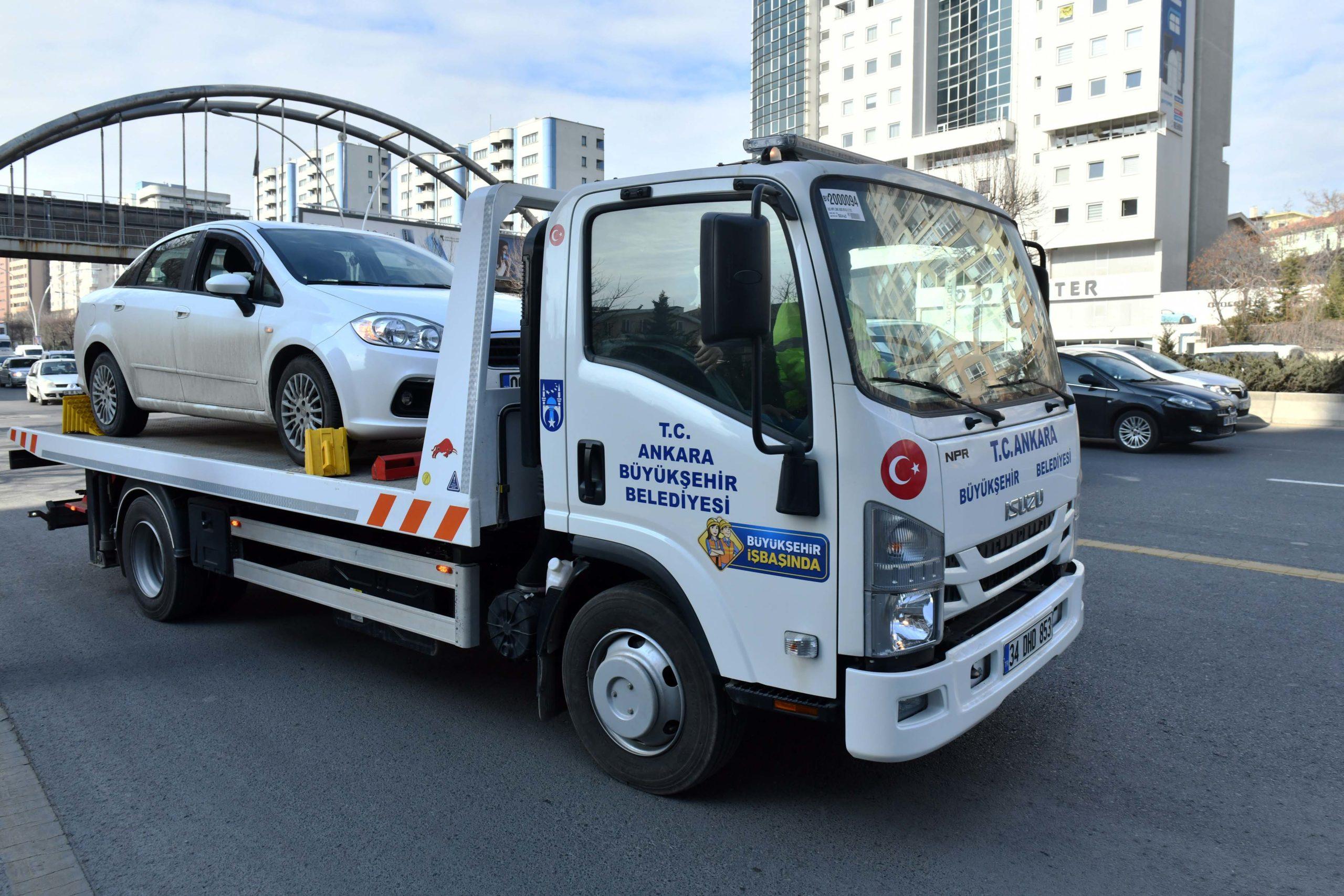 Ankara'nın Ücretsiz Araç Çekici Hizmeti Devam Ediyor