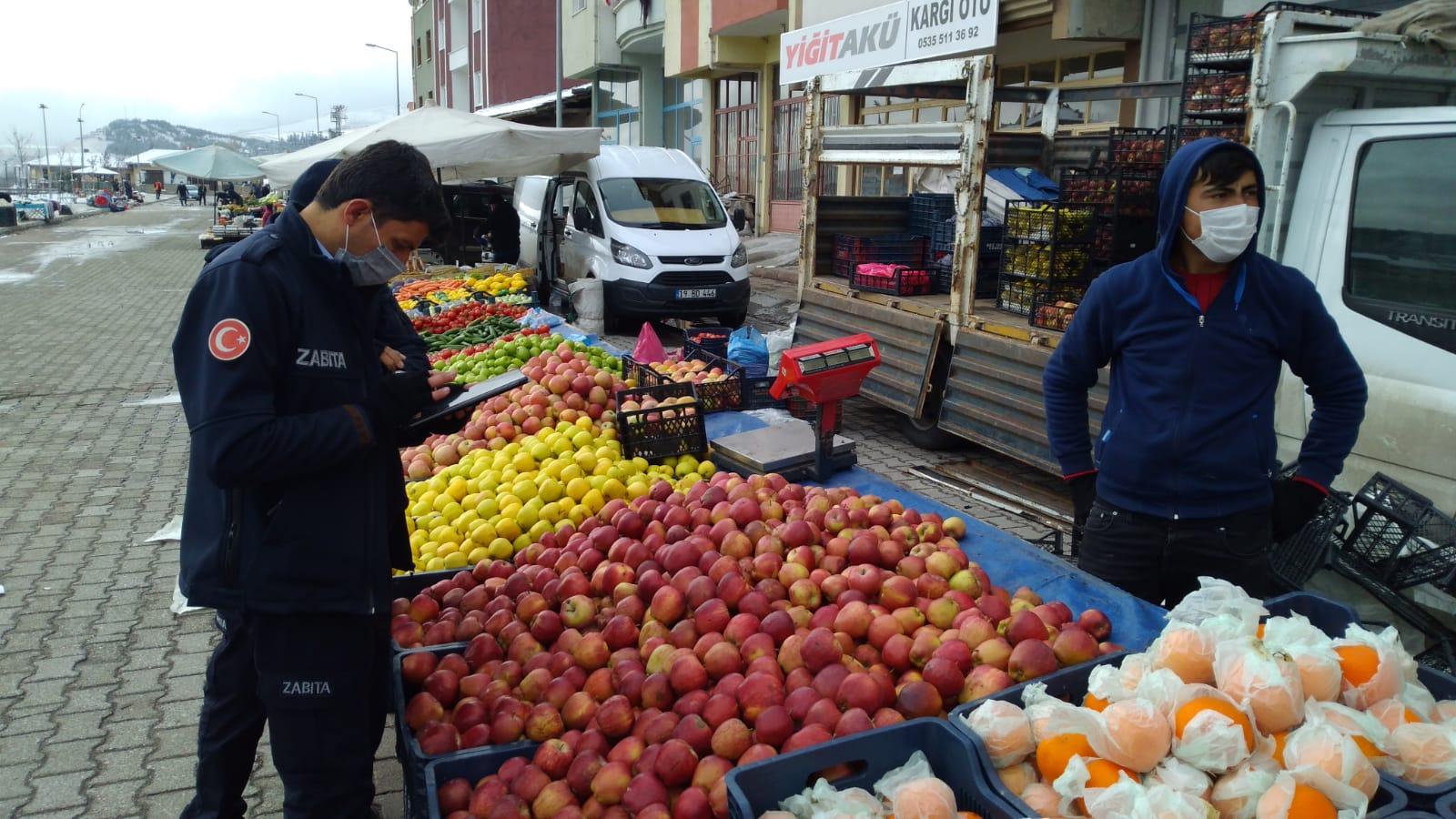 Bayat'ta Pazar Yeri Denetimi Yapıldı
