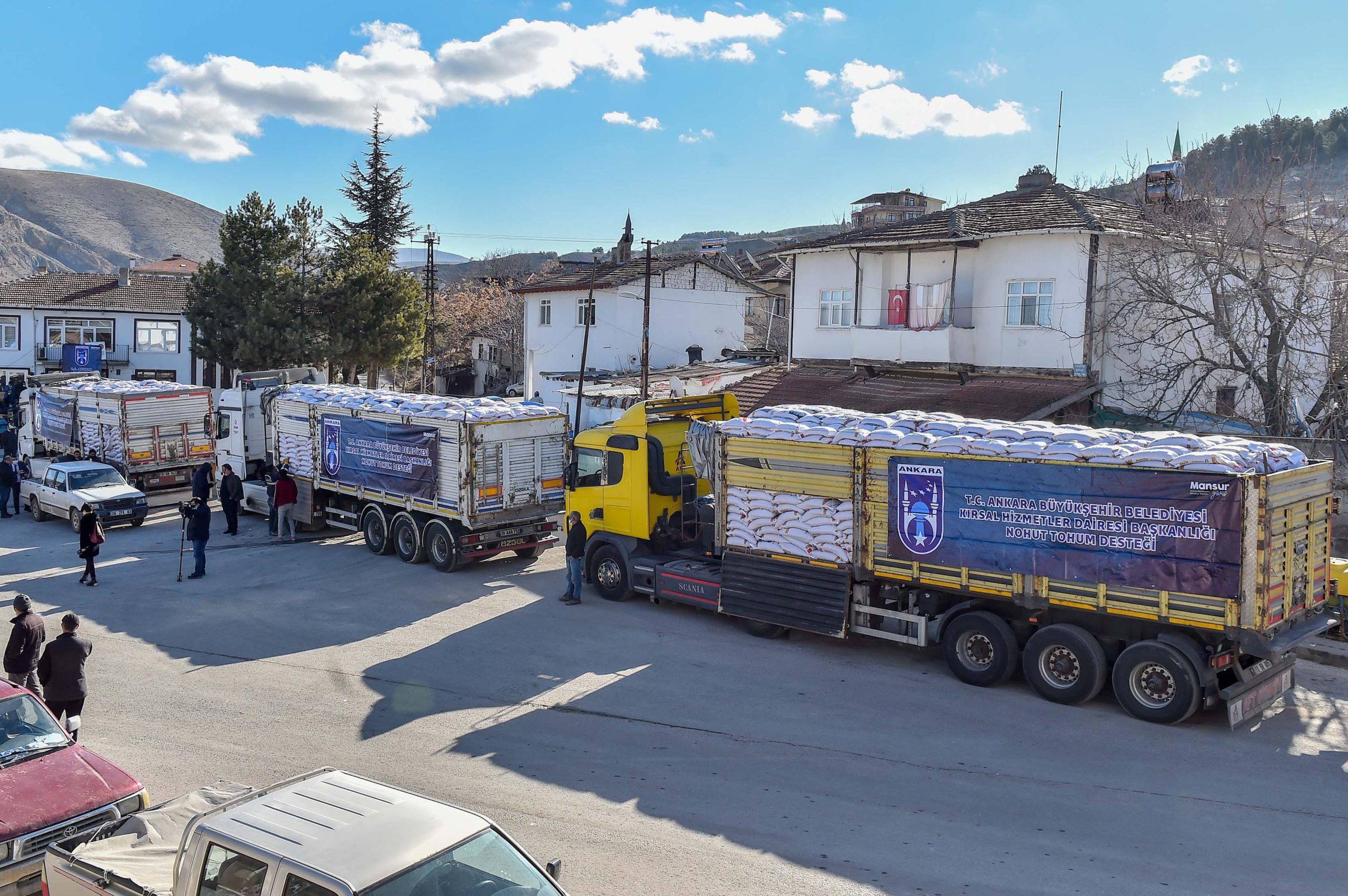 Ankara'da Kırsal Kalkınma Desteği Kapsamında Nohut Tohumu Dağıtımı Başladı