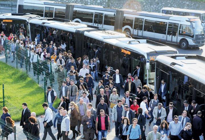 İstanbul'da Toplu Taşıma Yüzde 8.4 Arttı