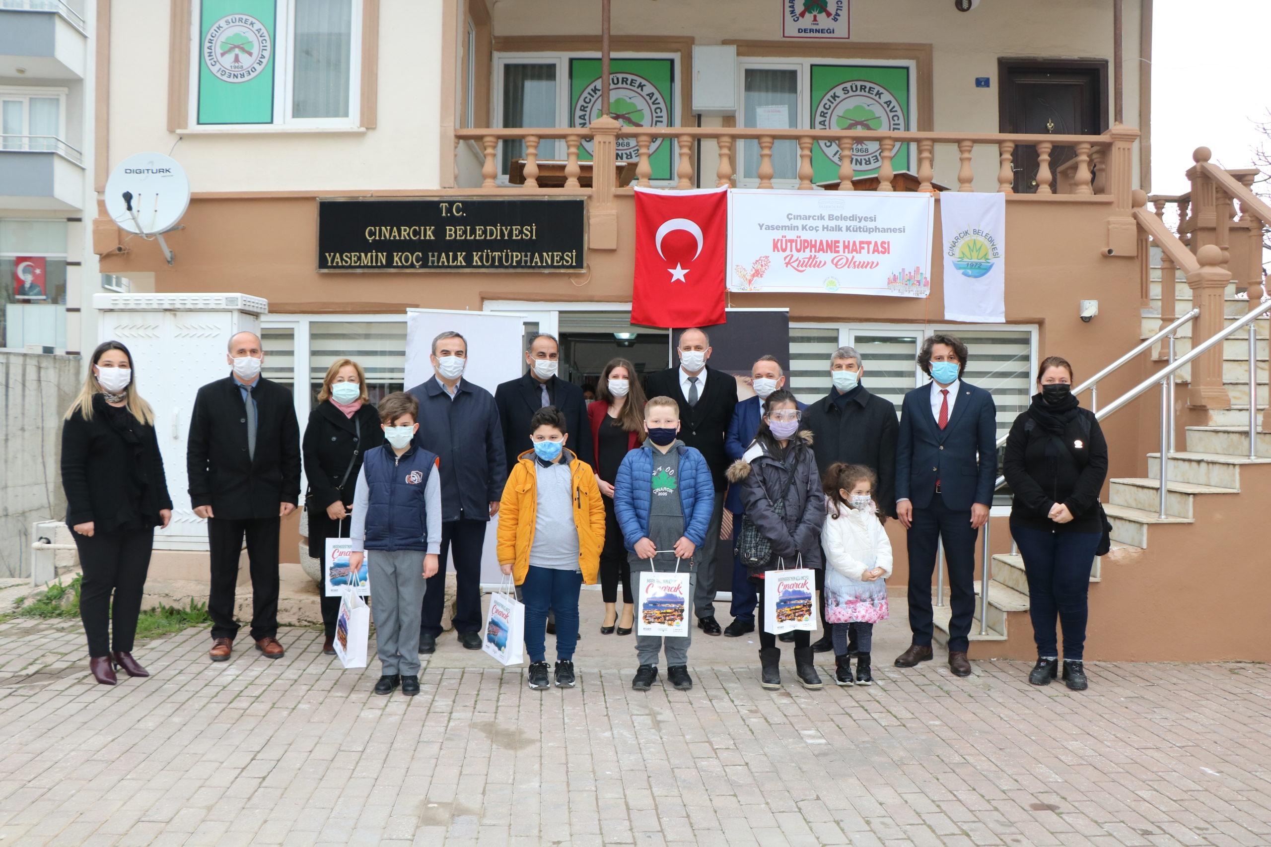 Çınarcık'ta Kütüphane Haftası Törenle Kutlandı
