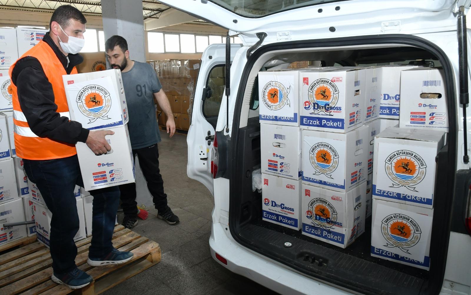 Samsun'da 15 Bin Aileye Gıda Yardımı Yapılıyor