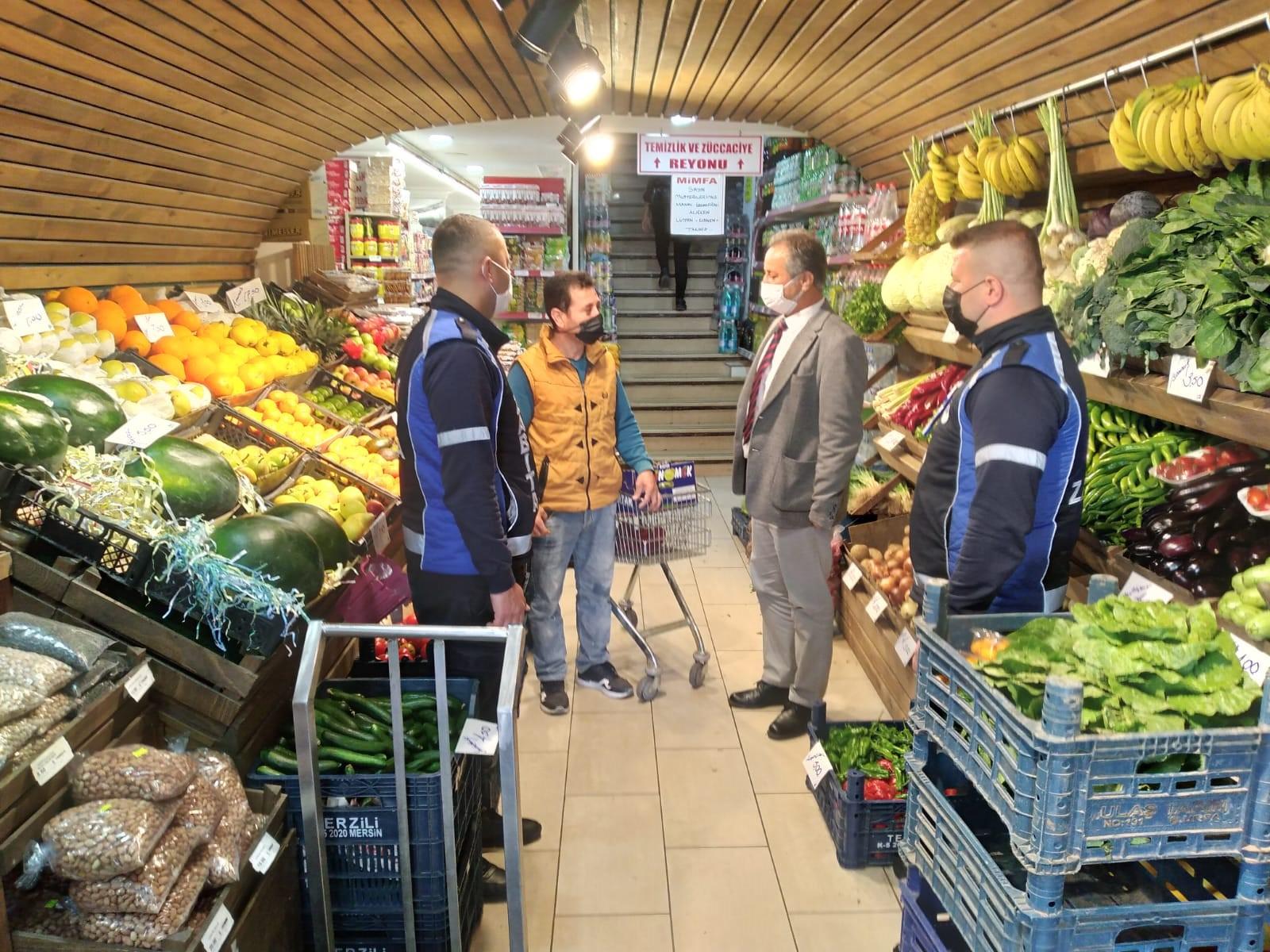 Silifke'de Zabıta Ekipleri Marketleri ve Fırınları Denetledi