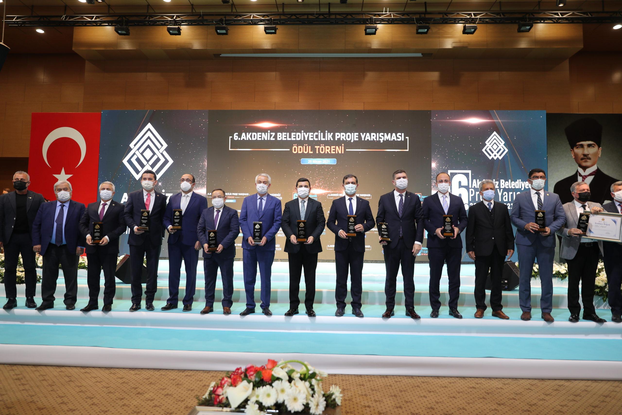 Burdur, Akdeniz Belediyecilik Proje Yarışması'ndan Ödül Aldı