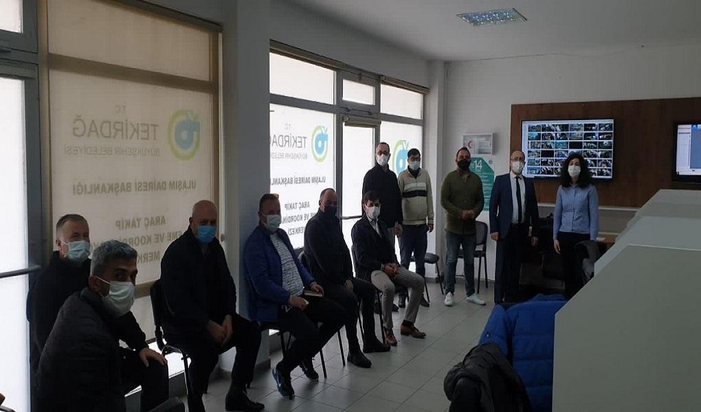 Tekirdağ'da Şehir İçi Toplu Taşıma Kooperatif Başkanları ile Toplantı Gerçekleştirildi
