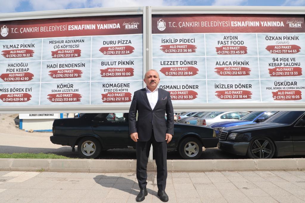 Çankırı'da Reklam Panoları Esnaflar İçin Hizmette