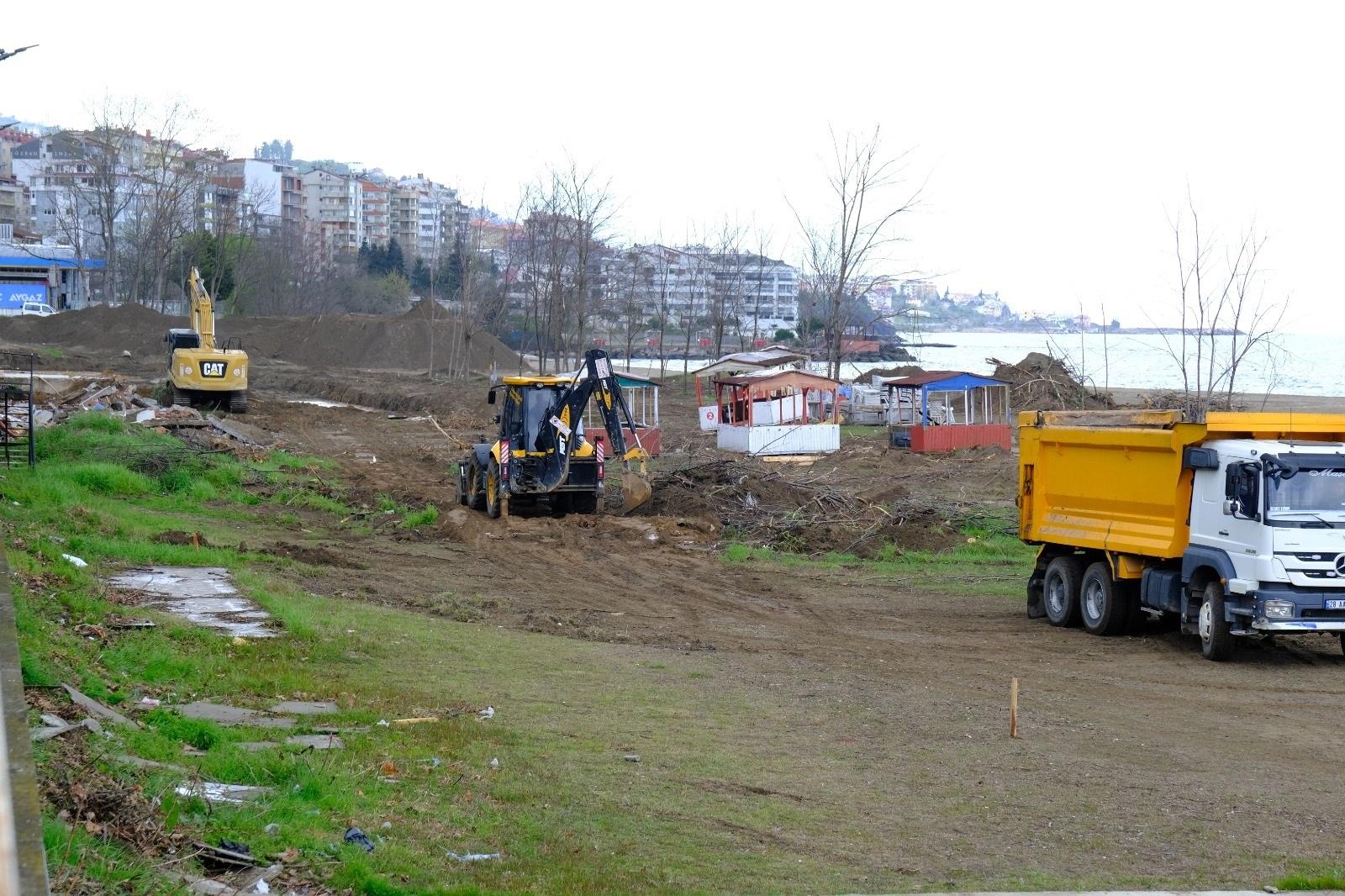 Giresun'da 'Plajlar Bölgesi Birinci Etap Proje' Çalışmaları Sürüyor