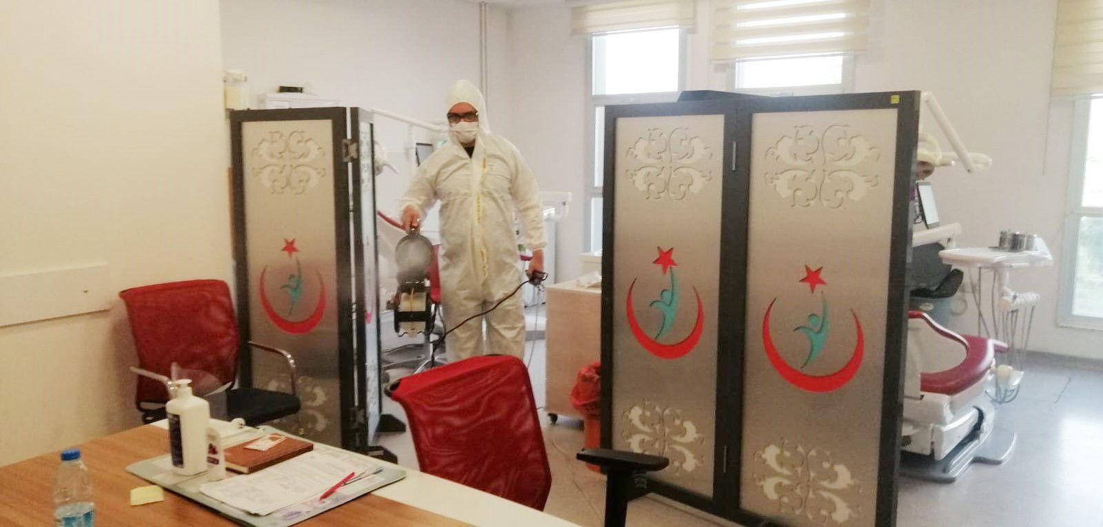 Akhisar'da Hastaneler Dezenfekte Edildi