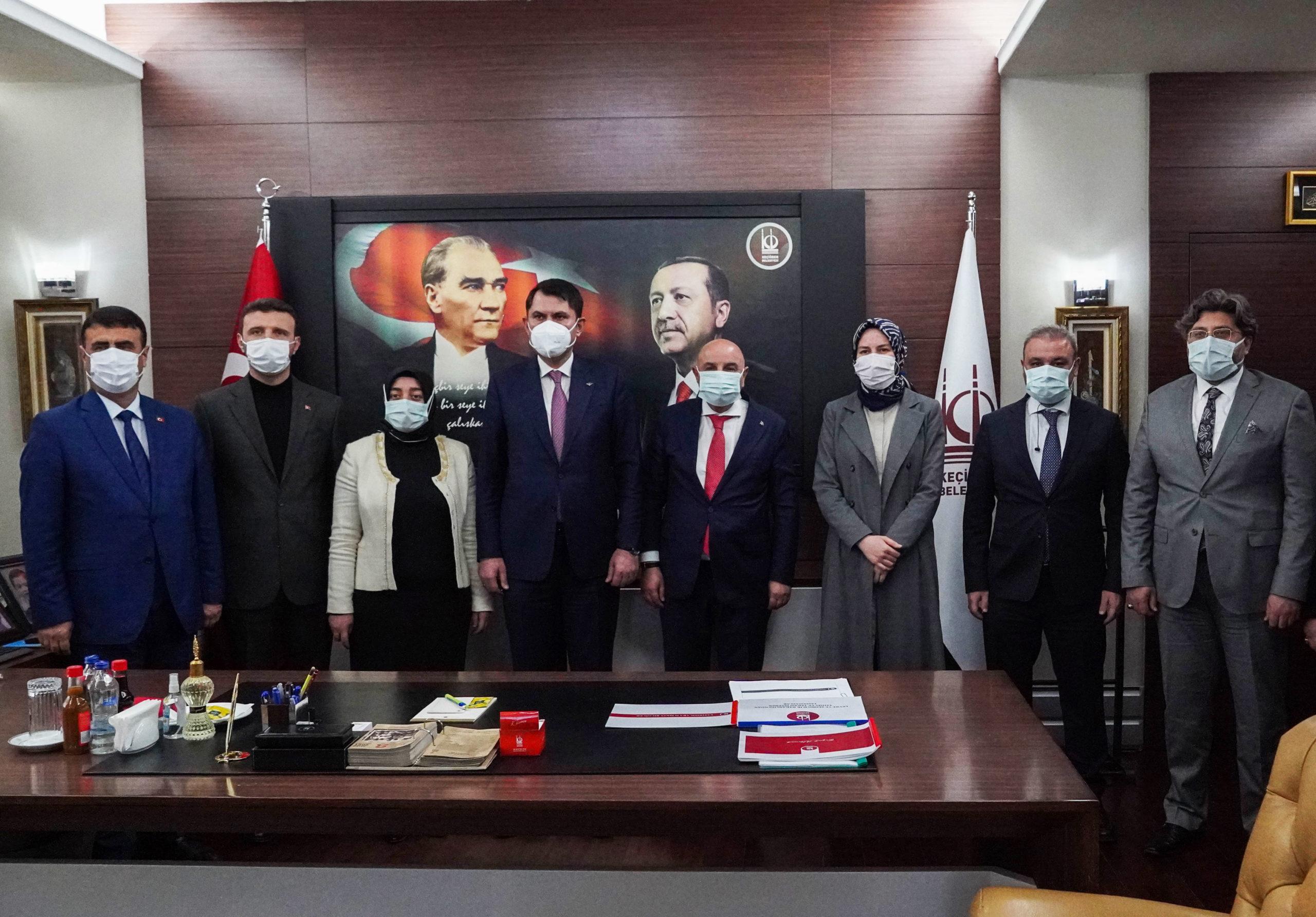 Bakan Kurum'dan Keçiören Belediye Başkanı Altınok'a Ziyaret