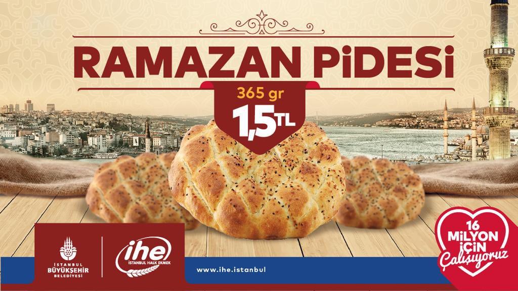 İstanbul'da Pide Ramazan Ayı Boyunca 1,5 Lira