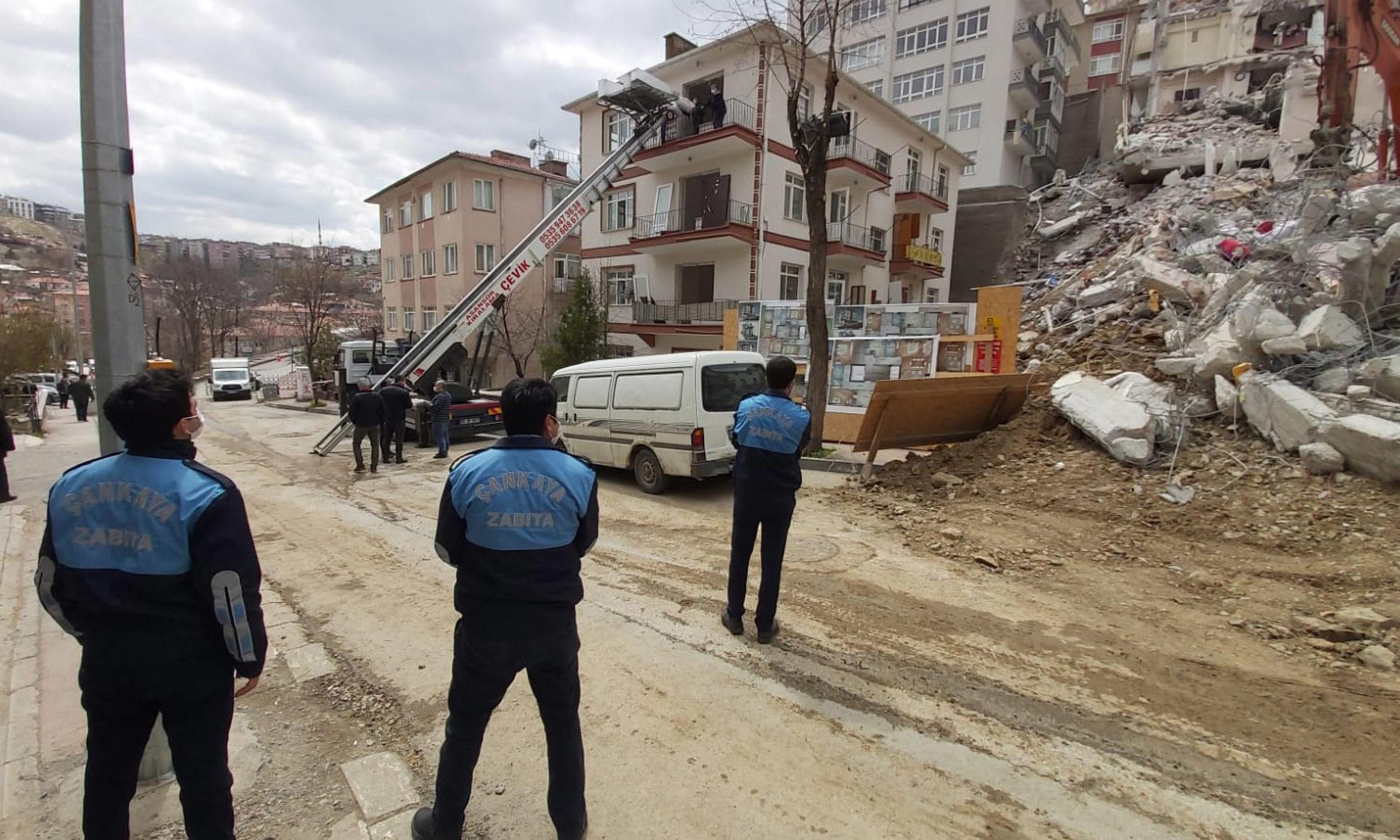 Çankaya'da Açelya Apartmanı Mağdurlarına Nakit Desteği