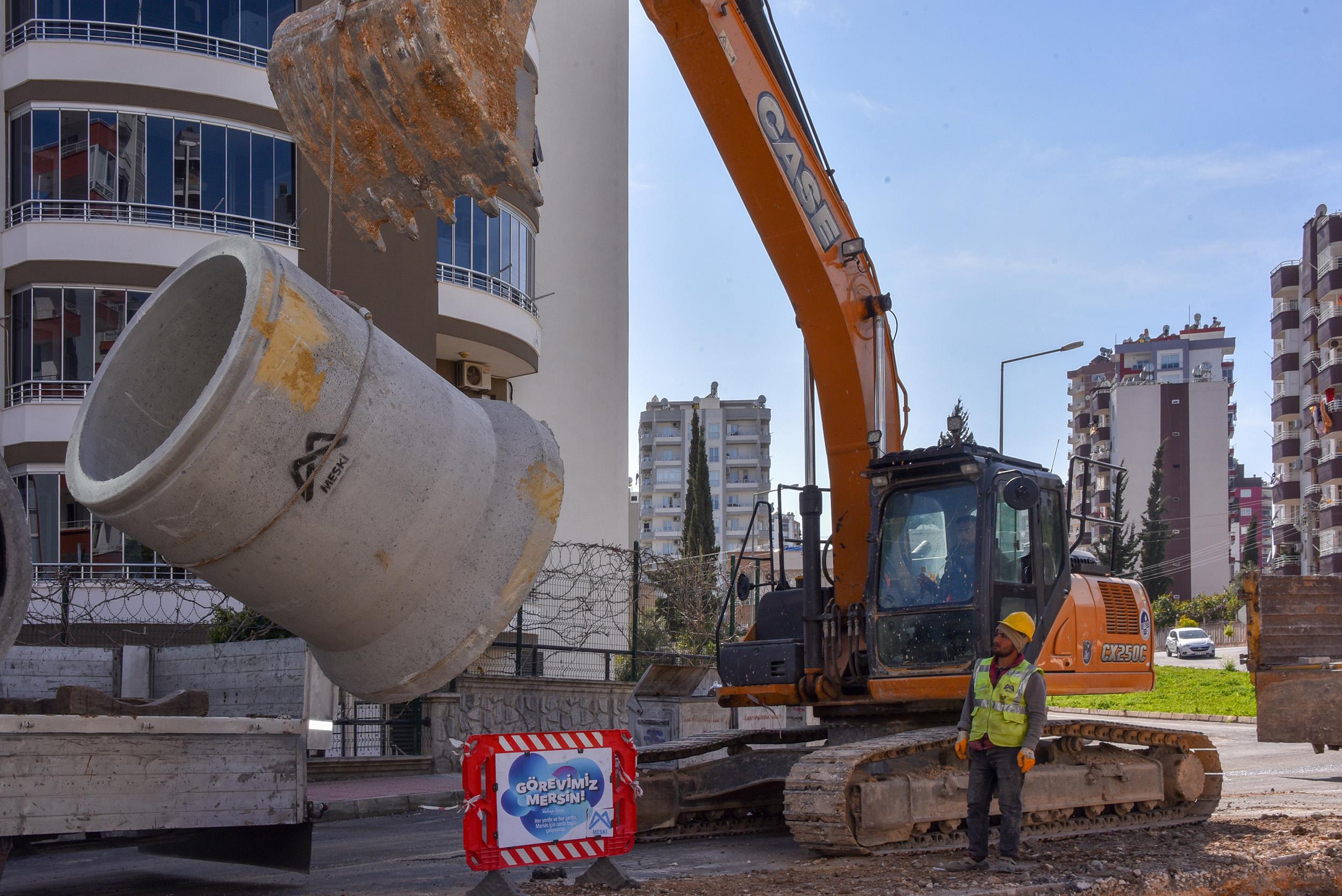 MESKİ'de Yağmursuyu Altyapı Yatırımlarına Devam Ediliyor