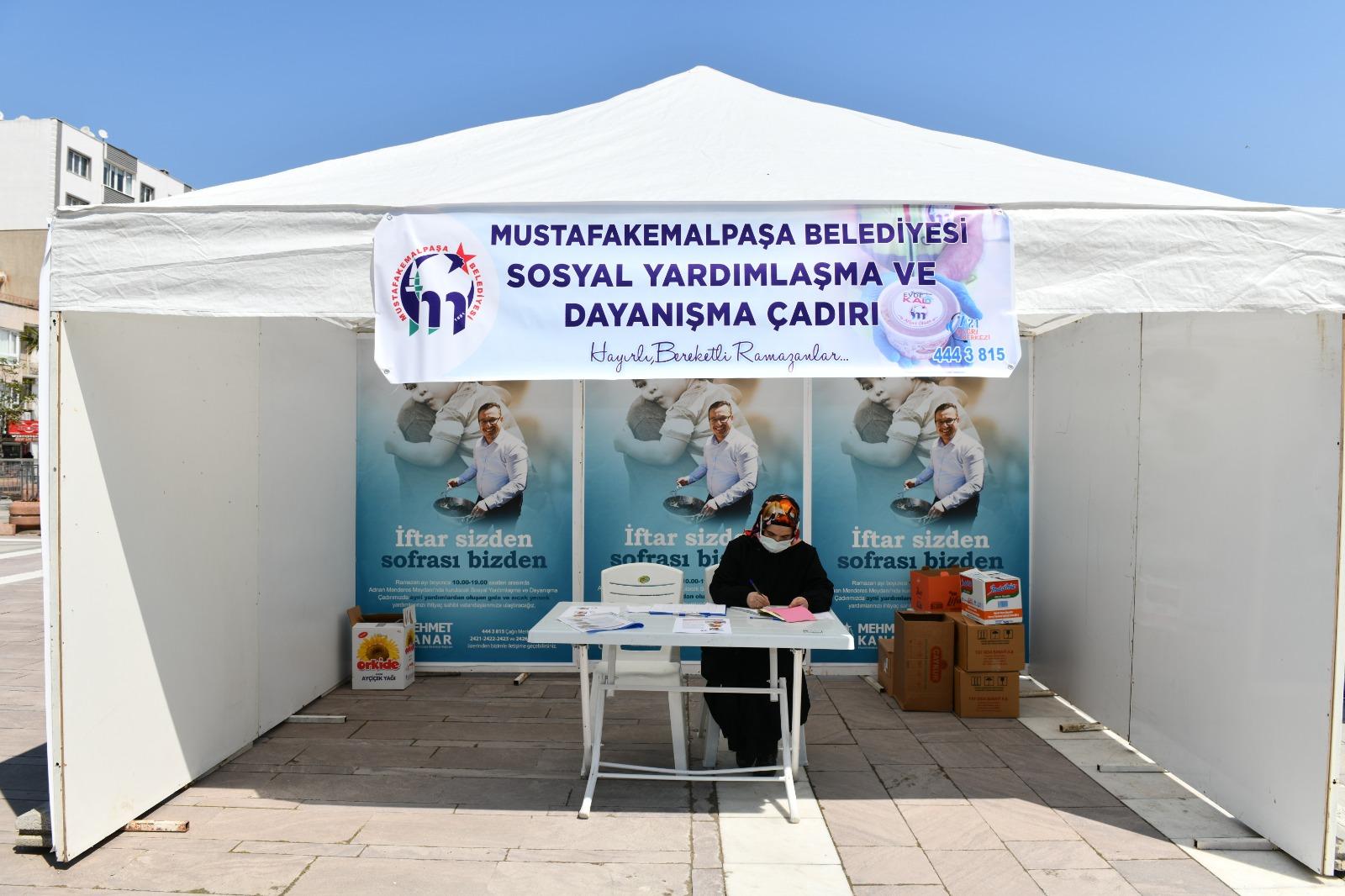 Mustafakemalpaşa'da 'İftar Sizden Sofrası Bizden' Kampanyası