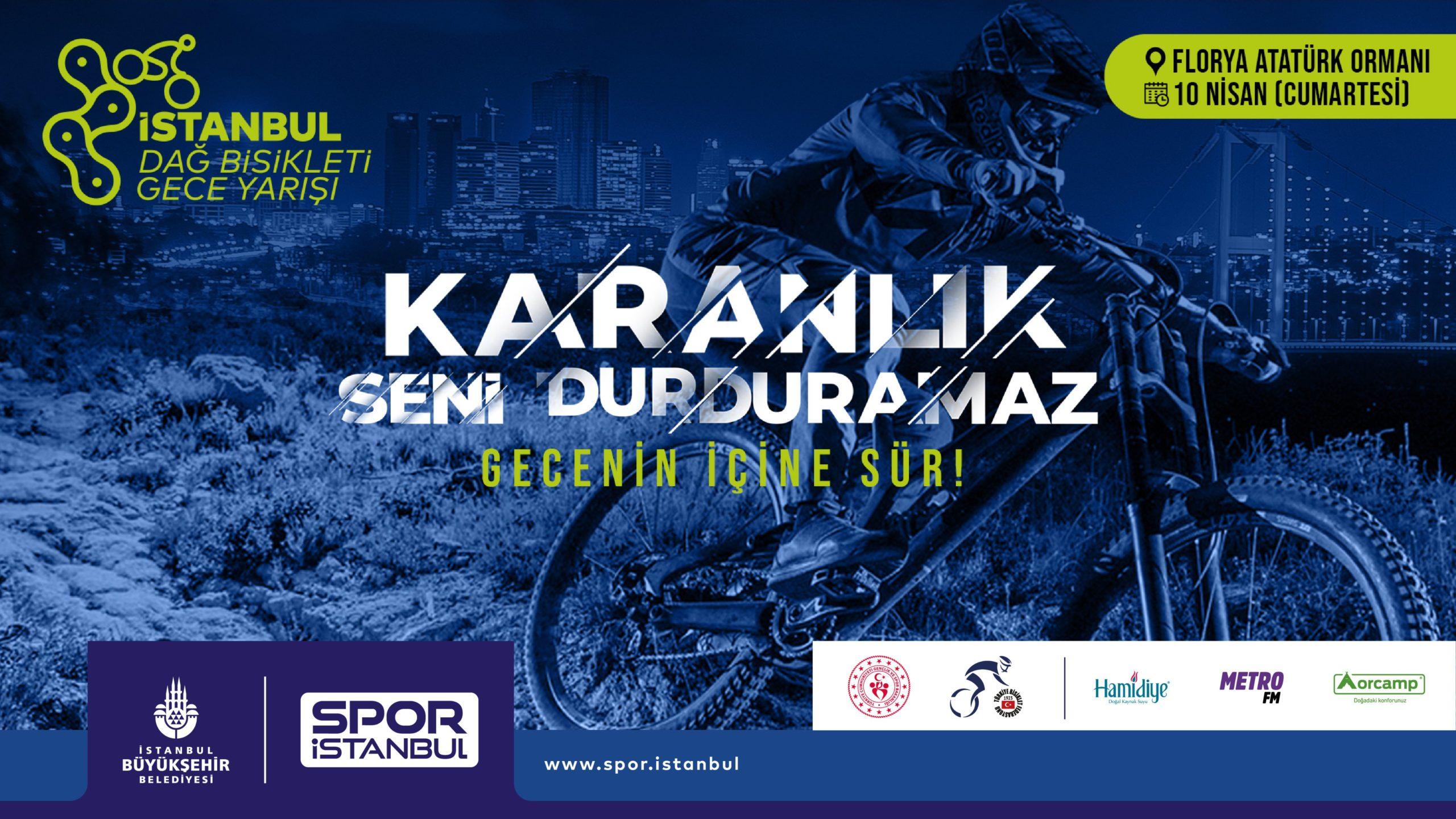 Bisiklet Tutkunları Gece Yarışında İstanbul'da Buluşuyor