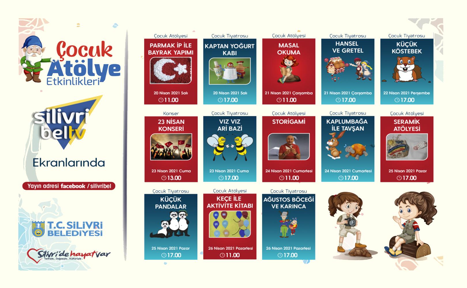 Silivri'de Çocuk Atölyesi ve Çocuk Tiyatrosu Etkinlikleri Başlıyor