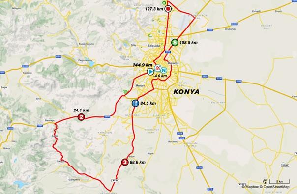 56. Cumhurbaşkanlığı Bisiklet Turu Konya Güzergahları