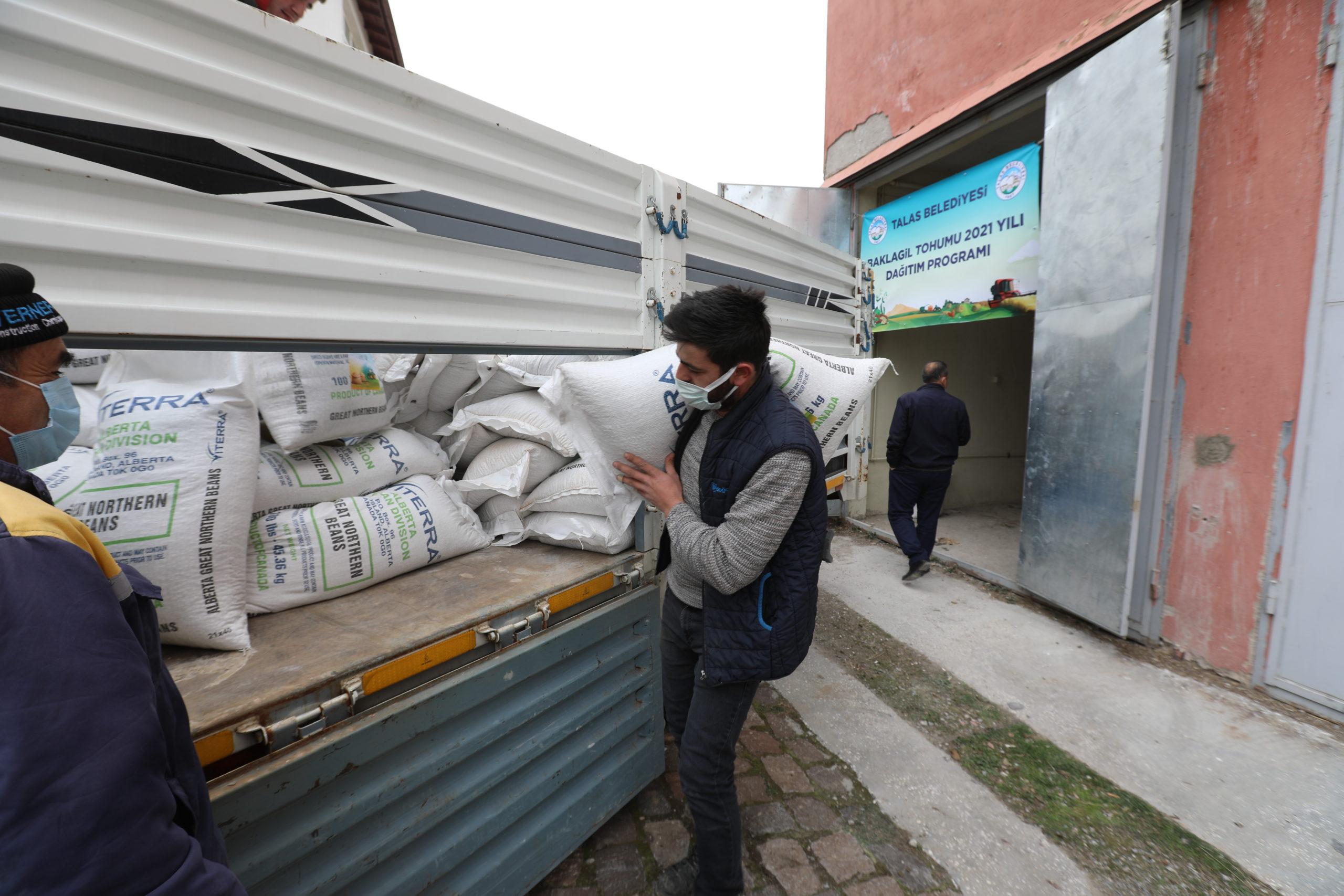 Talas'ta Tohum Desteği Devam Ediyor