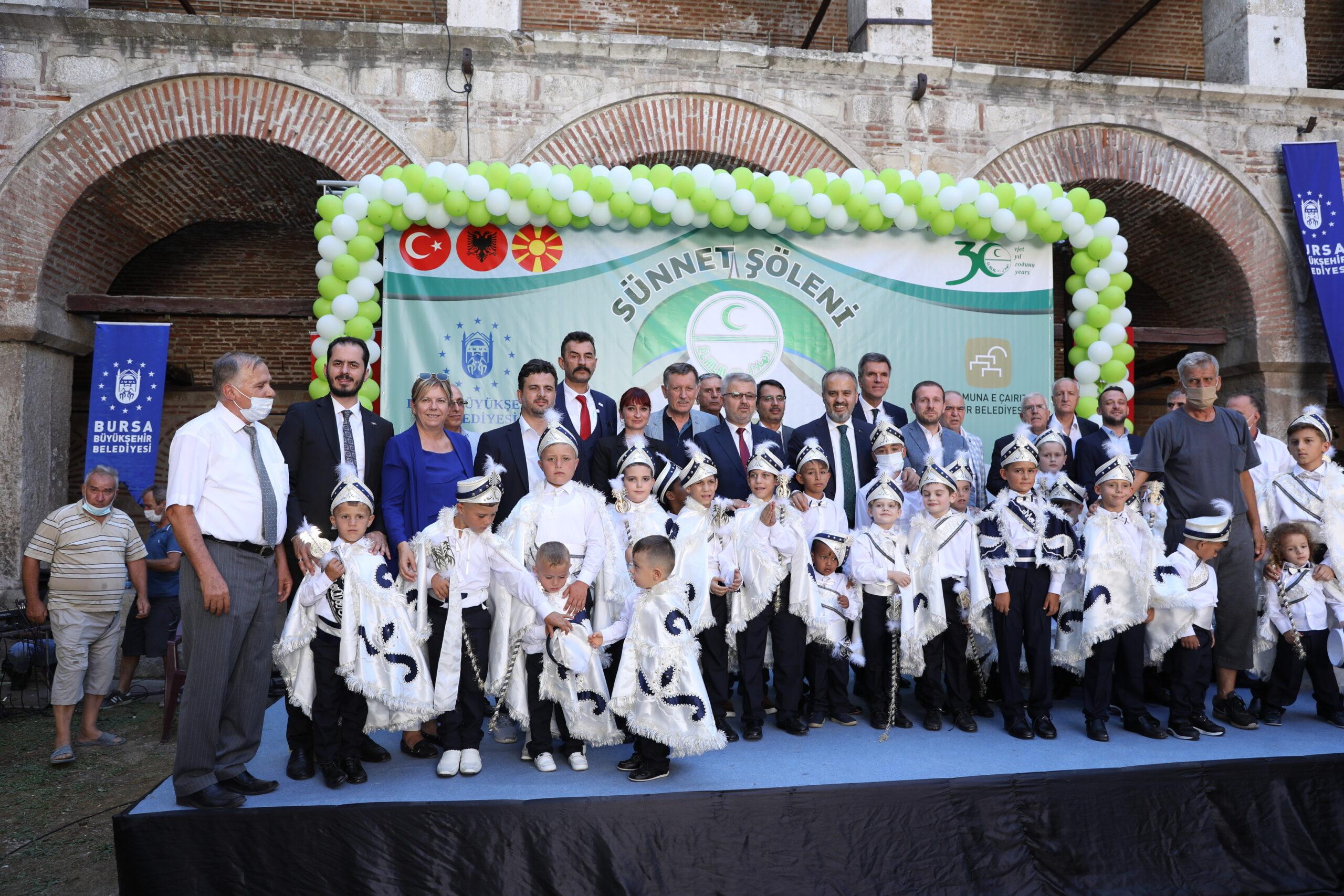 Bursa Büyükşehir Katkılarıyla Kuzey Makedonya'da Sünnet Töreni Düzenlendi