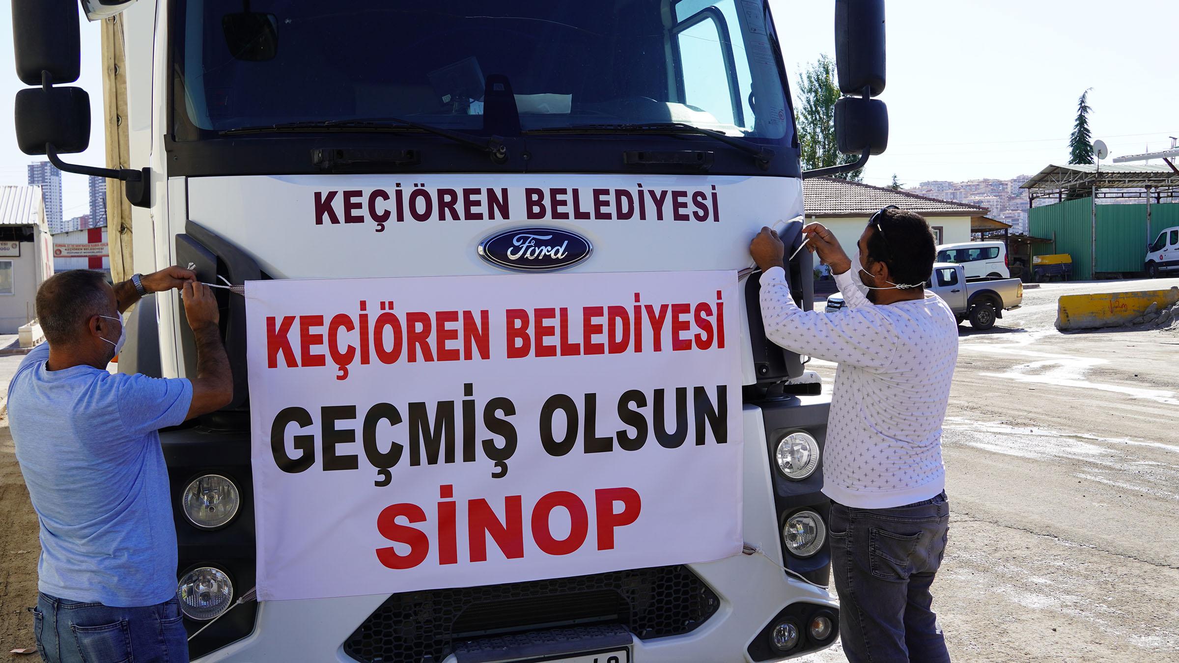 Keçiören Belediyesi, Sinop'a Yardım Tırı Gönderdi