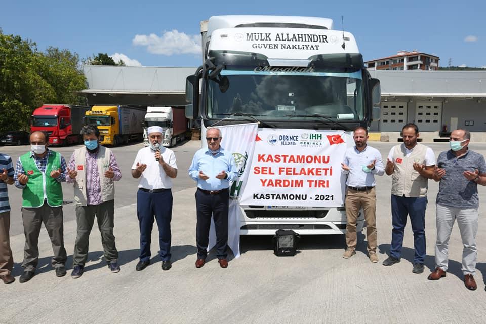 Derince Belediyesi'nden, Kastamonu'ya Yardım Tırı