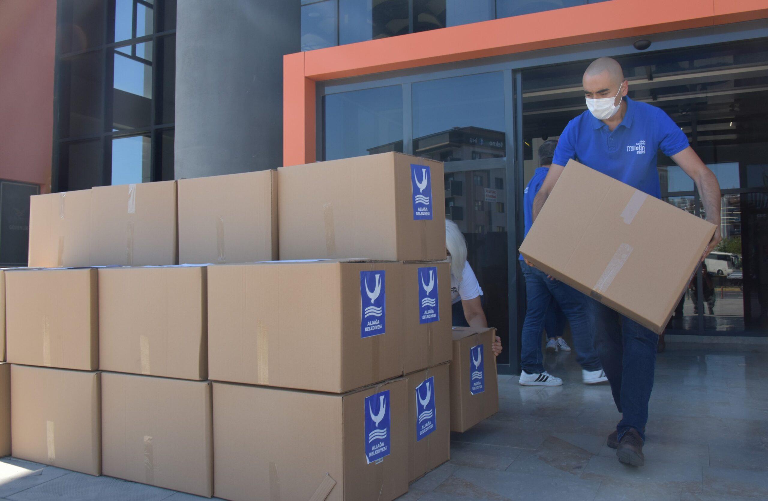 Aliağa Belediyesi, Afet Bölgesine Acil İhtiyaç Malzemeleri Gönderildi
