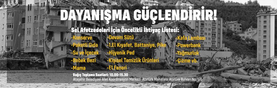 Afetzedeler İçin Ataşehir Belediyesi'nden Yardım Kampanyası