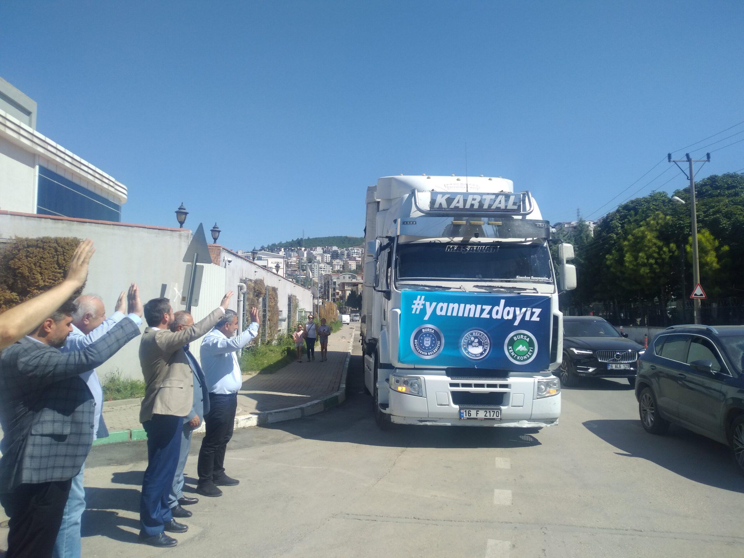 Bursa'dan Kastamonu'ya Yardım Tırı Gönderildi