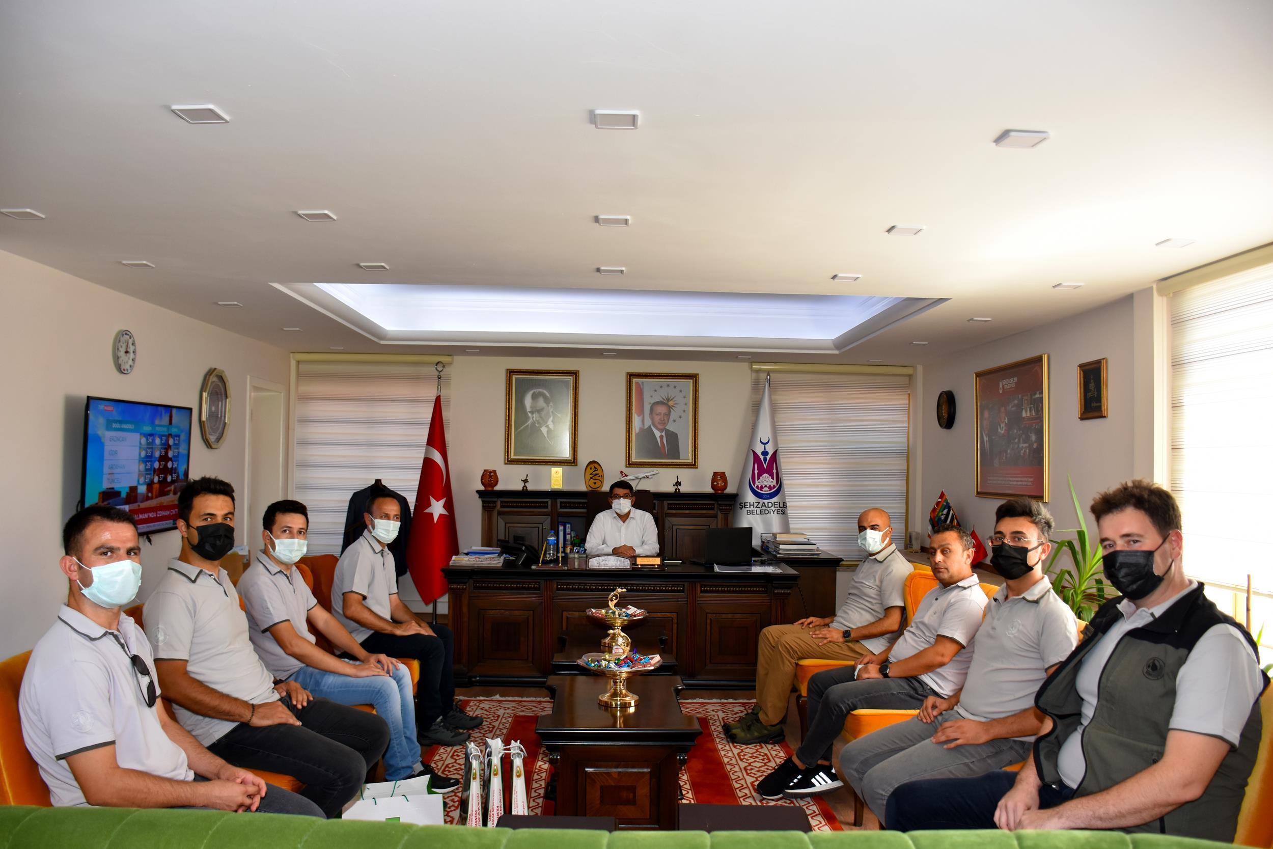 Şehzadeler Belediye Başkanı Çelik, Orman Kahramanlarını Misafir Etti