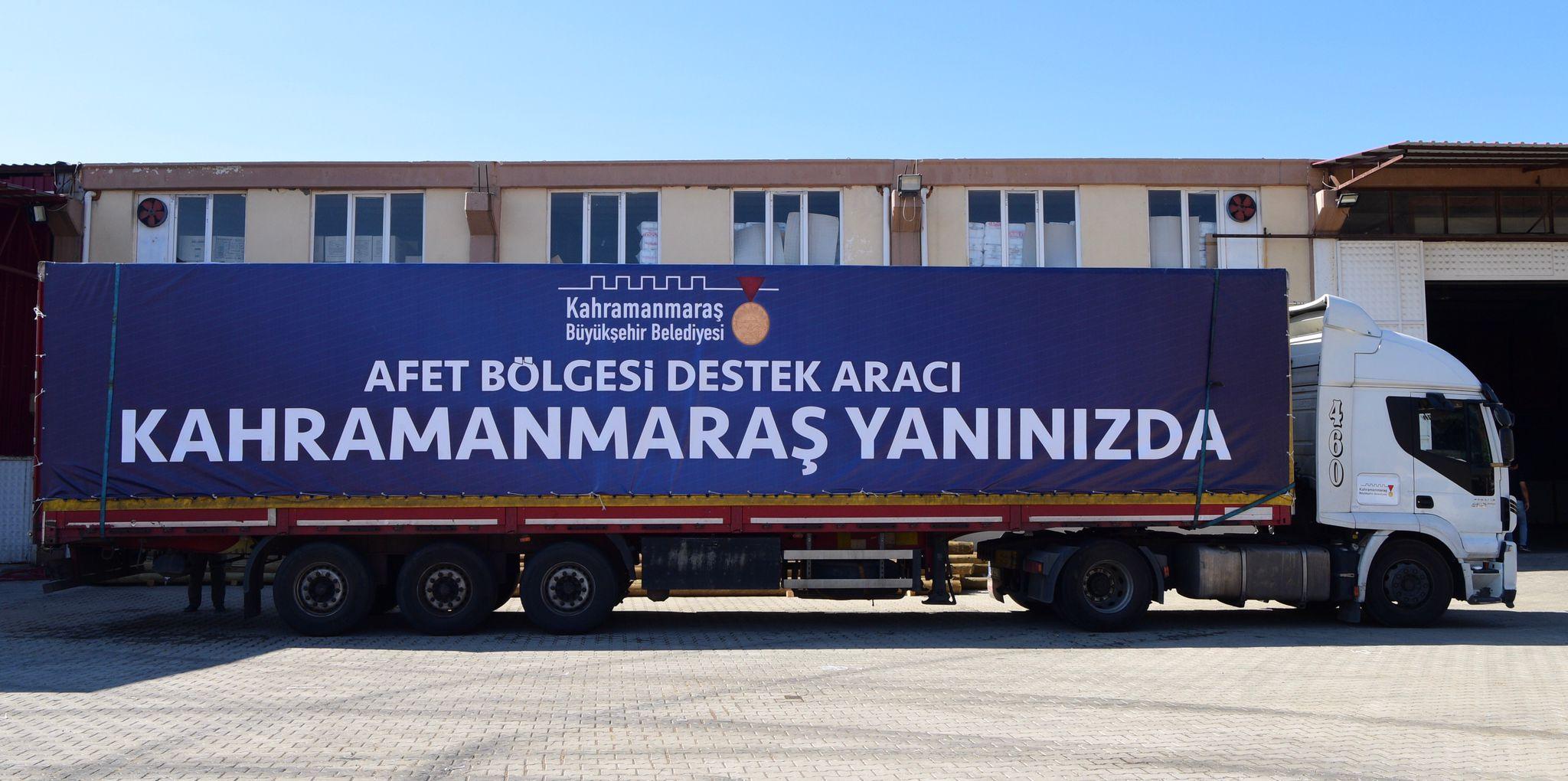 Kahramanmaraş Büyükşehir, Sel Bölgelerine Destek Verdi