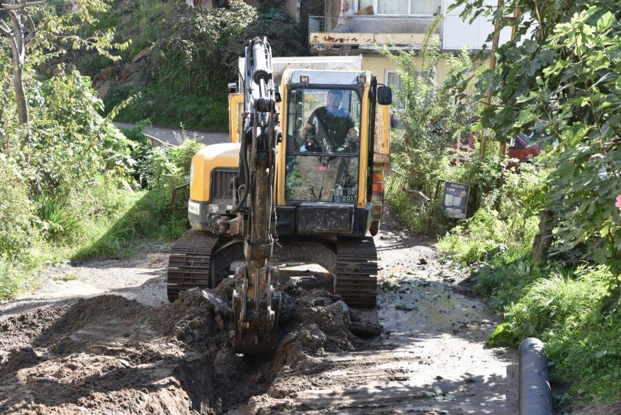 Giresun Belediyesi'nce Hasan Tepesi'nin Kanalizasyon Sorunu Çözüldü