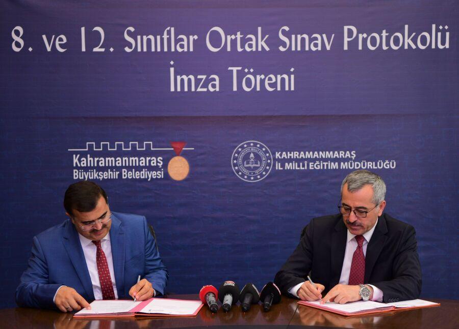 Kahramanmaraş Büyükşehir İle Milli Eğitim Müdürlüğü 'Ortak Sınav Protokolü' İmzaladı